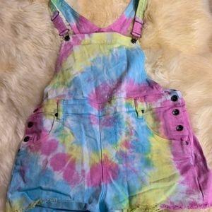 Tye Dye Overal shorts size 13